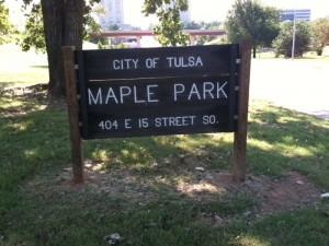Maple Park in midtown Tulsa