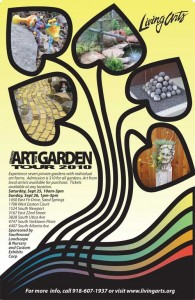 Living Arts Garden Tour 2010 poster