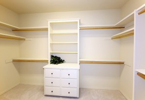 Master bedroom closet - as you can see, a room in itself!