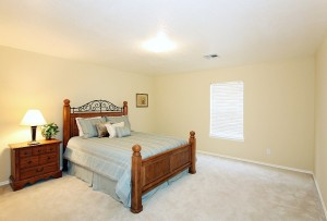 One of three large upstairs bedrooms - each with a walk-in closet