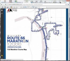 Tulsa Oklahoma Route 66 Marathon Map