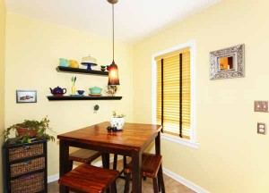 Spacious and contemporary breakfast nook completes the kitchen!
