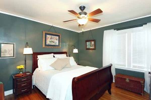 Master bedroom oversized to fit your furniture; crown molding, baseboards & ceiling fans in each of 3 bedrooms