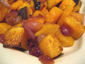 Roasted butternut squash is an excellent side dish for your holiday meal!