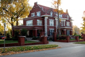 Tulsa mansion in midtown Tulsa, Maple Ridge Historical district