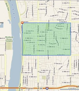 Map of Brookside, midtown Tulsa