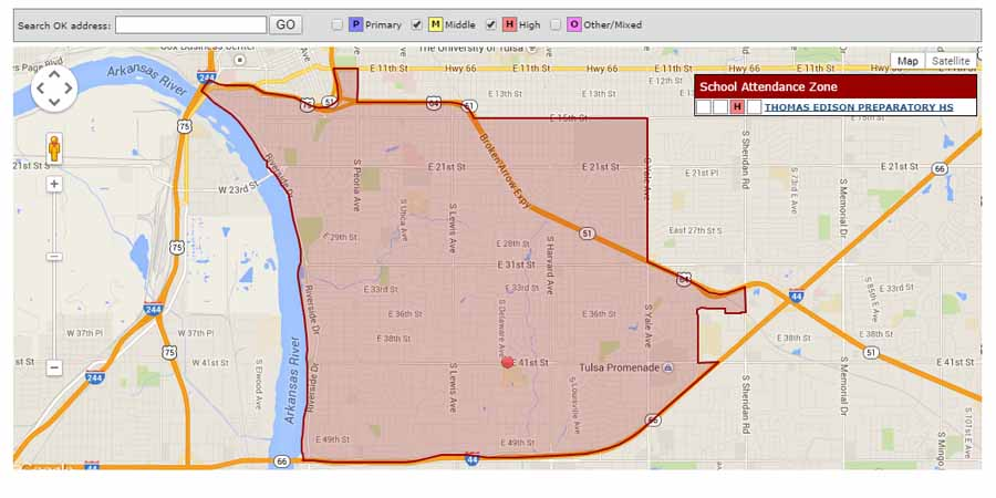 Map boundaries Edison schools