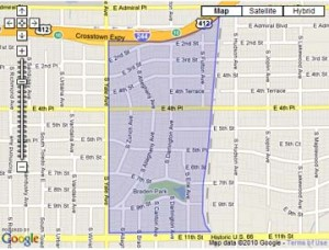 Map of White City - midtown Tulsa real estate