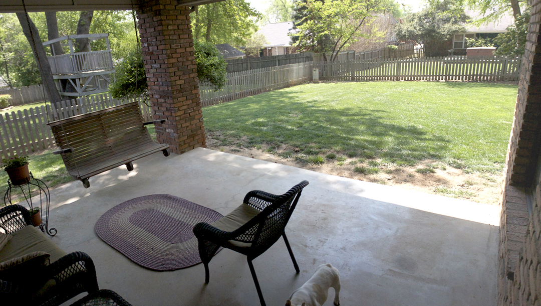 covered patio in Tulsa home for sale in Jenks schools