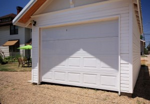 New detached garage accessible from alley in midtown Tulsa home for sale
