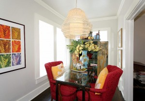 Darling room at back of home, perfect office or sitting room in historic midtown Tulsa home for sale