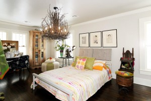 Spacious master bedroom in historic midtown Tulsa home for sale