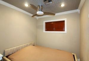 Garage apartment bedroom area