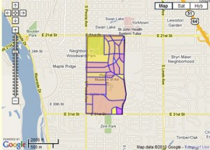 Terwilliger Heights Map