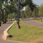 River Parks Trails in midtown Tulsa