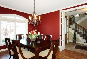 Formal dining with home staging