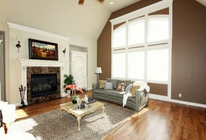 Living Room with Home Staging