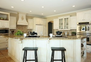 Kitchen with home staging