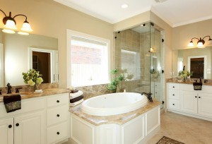 Master bath after home staging