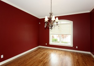 Formal dining room without home staging