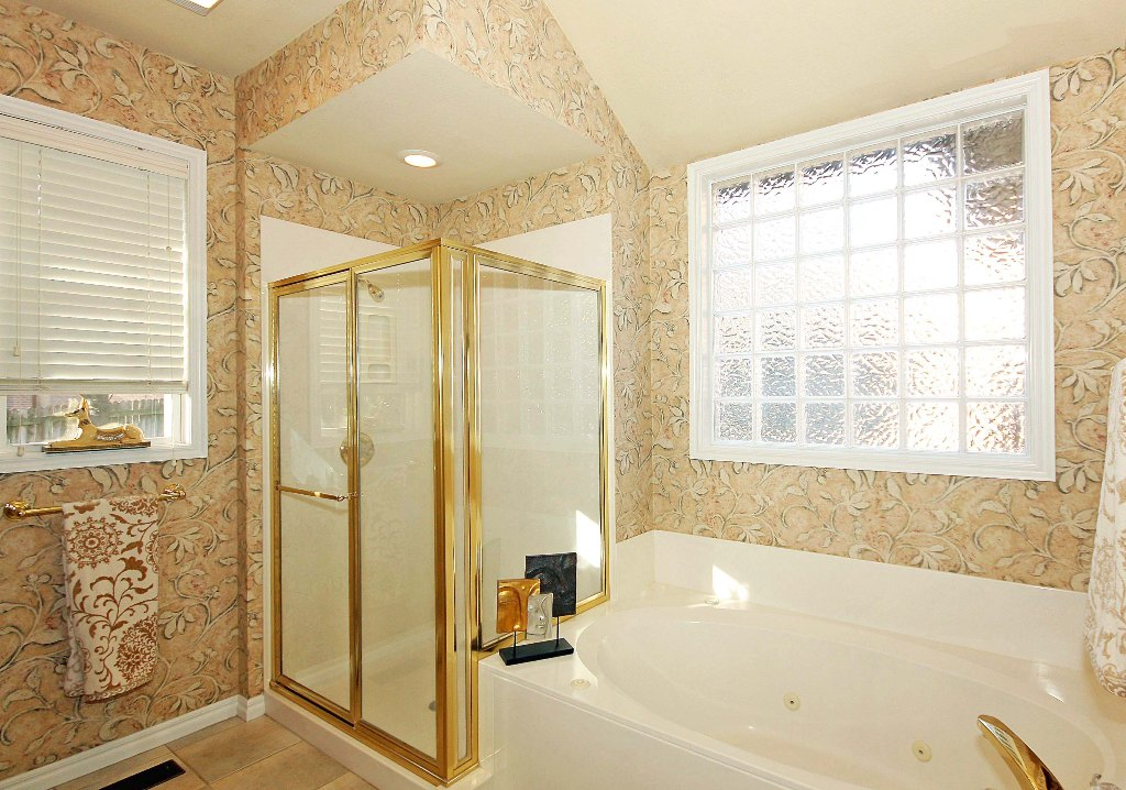 master bath shower and whirlpool tub