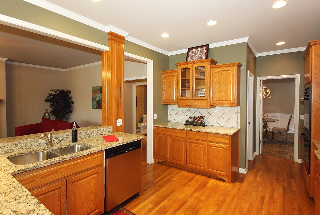 handsome hardwoods in kitchen