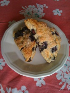 Marie Knight blueberry scones