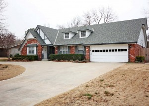 Traditional brick home near Southern Hills Country Club Tulsa OK