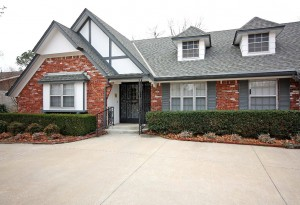 Traditional one-level brick home in midtown Tulsa