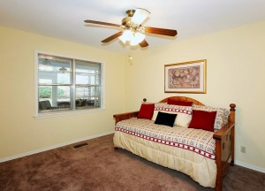 Bedroom 1 with window to sunroom