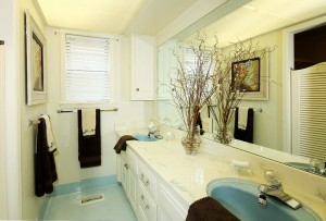 Full Hall bath with 2-sink vanity