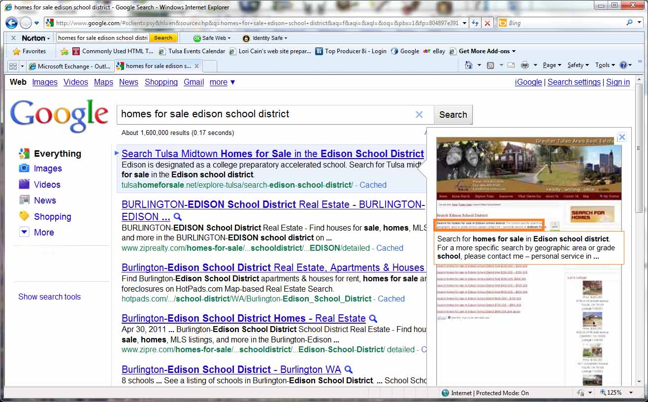 screen shot google tulsa homes for sale edison schools