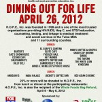 DINNING OUT FOR LIFE – APRIL 28, 2011