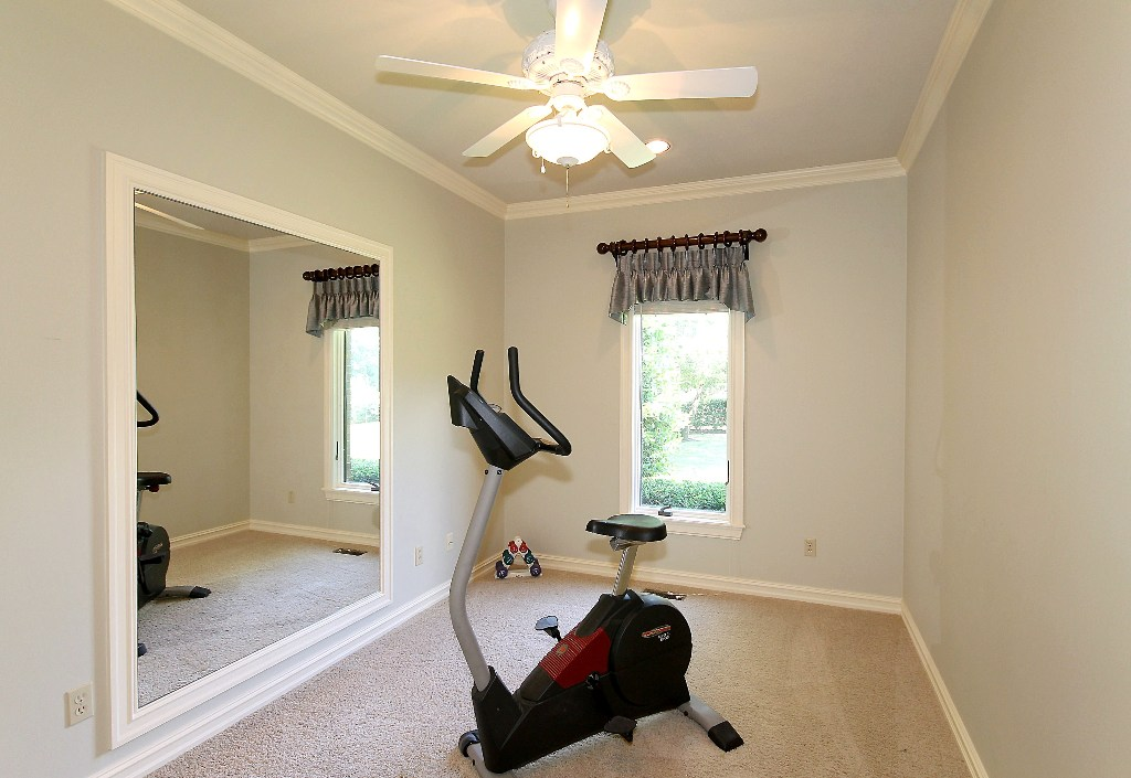 exercise room in master or 2nd closet