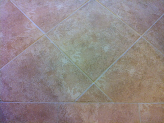 floor with cleaned, stained and sealed grout