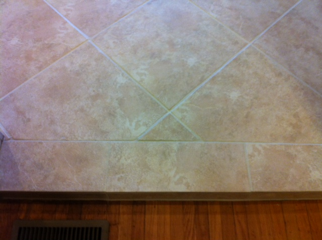 after cleaned and stained grout