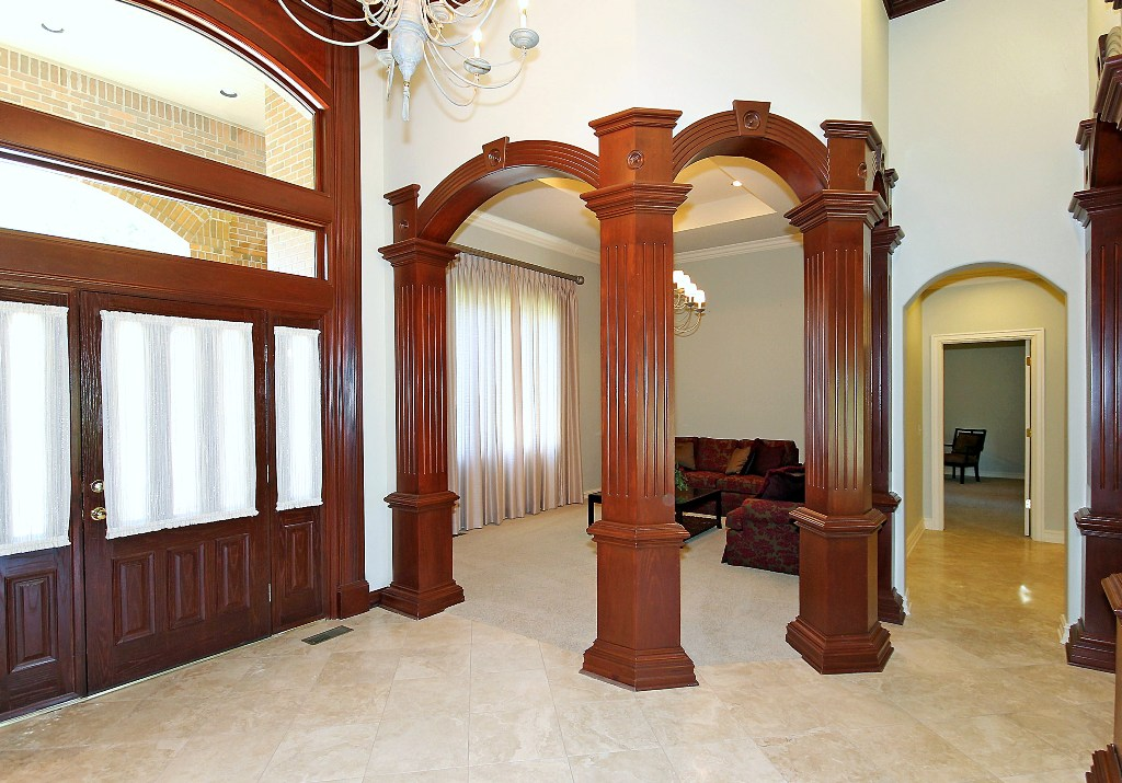 Interior entry in Tulsa luxury home for sale