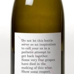 Wine warning label