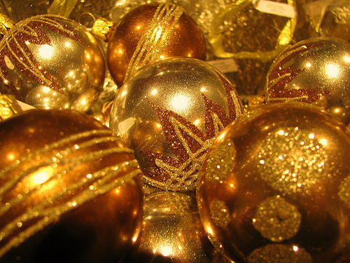 Christmas Decorations With Gold : Christmas decoration gold ideas decorating