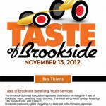 Taste of Brookside benefiting Youth Services – November 13, 2012