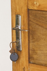 test your front door key to ensure it works easily