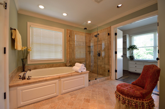 shower and closet in master bath