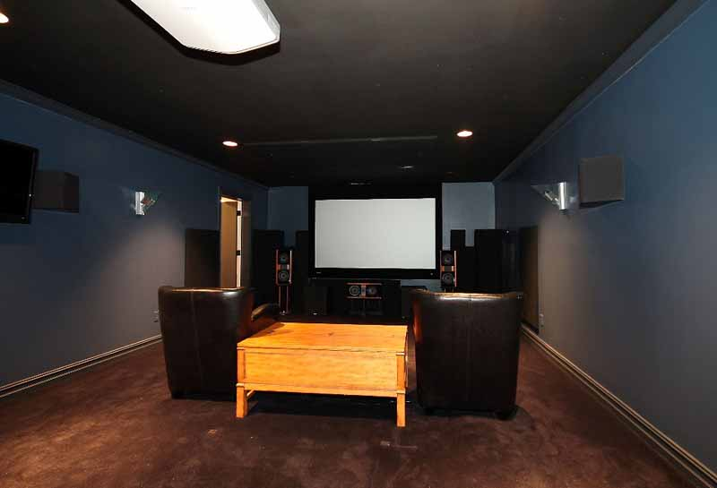 theater media room in Sunset Terrace