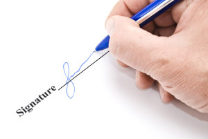 signature on real estate contract