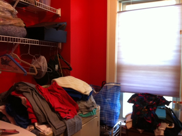 image of closet before organization by Peace in the Details