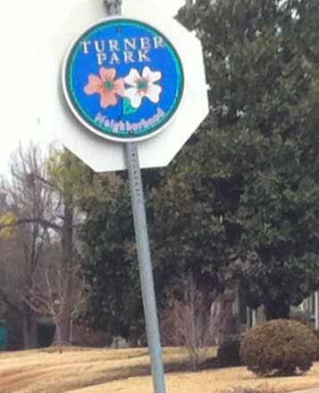 Turner Park street sign