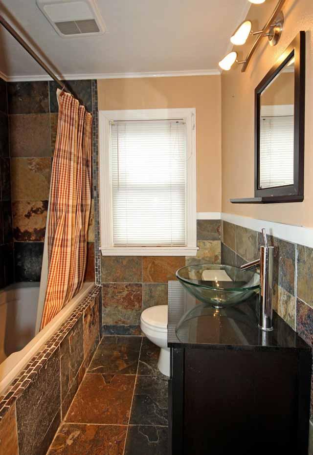Amazing Casual  Comfortable Bathroom In Broken Arrow  Mosaic Tile Shower