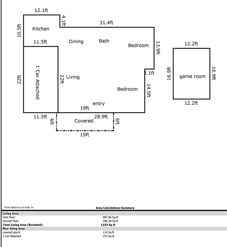 How to figure out square footage of a house how to for Square footage of a room