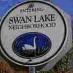 midtown tulsa swan lake neighborhood sign