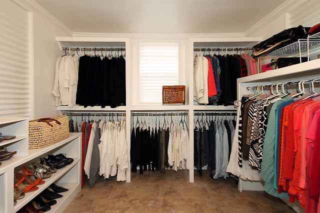 In Between The Master Bedroom And Closet Is A Large Dressing Room With Tiled Flooring That Flows Into Owner Enjoys Using This